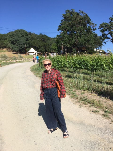 Out in Napa on a day trip to Scribe vineyards