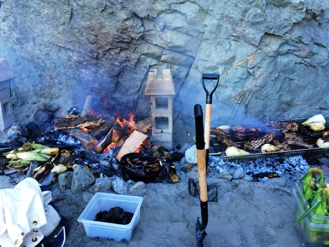 Chefs Feed Cookout on the Beach