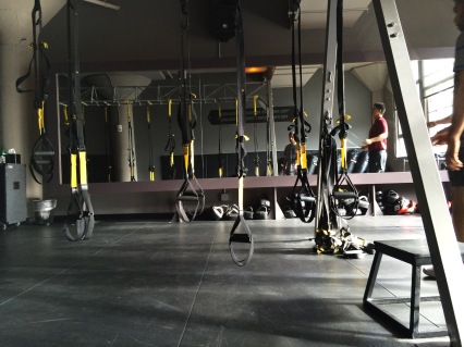Before a TRX class I took!
