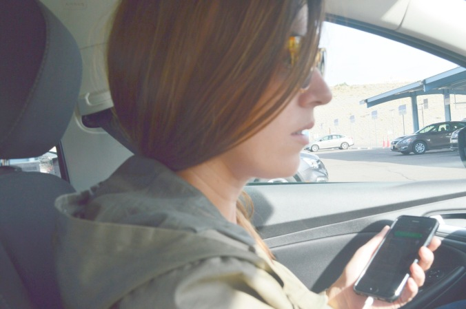 Chiara takes the wheel in Albuquerque.
