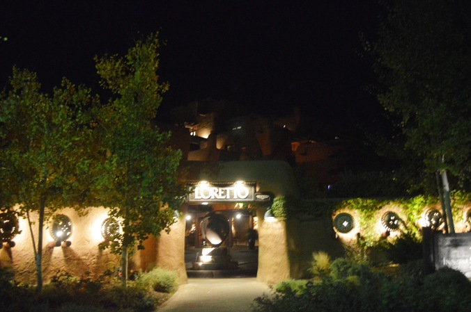 Santa Fe truly glows at night. Our hotel was no exception.