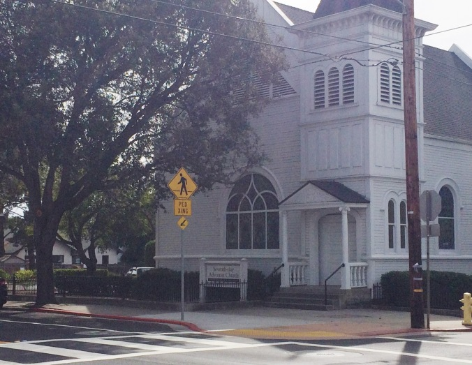 Cute church across from the court reporter's office in San Lous Obispo.